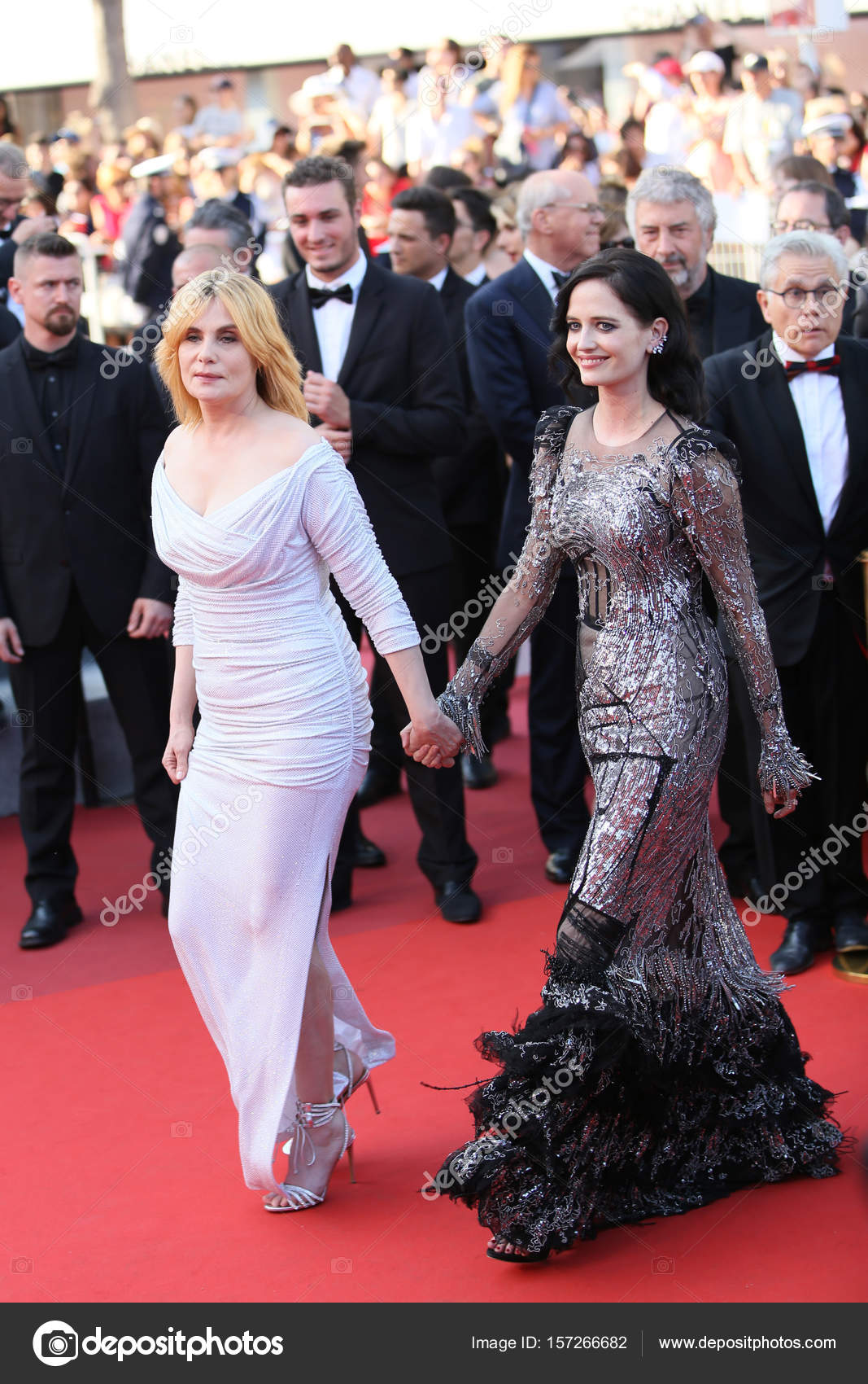 Actresses Eva Green and Emmanuelle Seigner attending Based On A True Story  at 70th Film Festival, Cannes, France, May 27, 2017 — Photo by  DenisMakarenko
