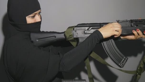 Terrorist menacing western countries on a tape