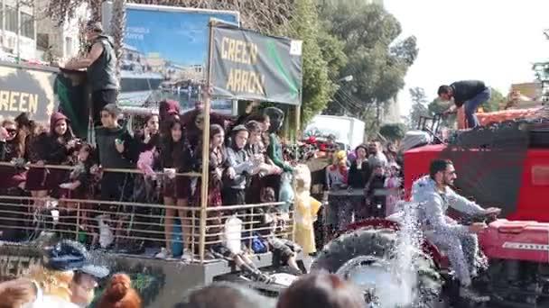 Limassol, Kypr - 26. února: Karnevalový průvod, 26 února 2017 v Limassol, Kypr