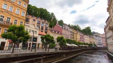 KARLOVY VARY - JUNE 13: Time lapse shot of Karlovy Vary, Czech republic on June 13, 2017 in Karlovy Vary