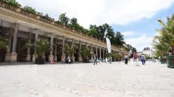 Karlovy Vary - 13. června: Čas zanikla záběr z Karlových Varů, Česká republika on 13 června 2017 v Karlových Varech