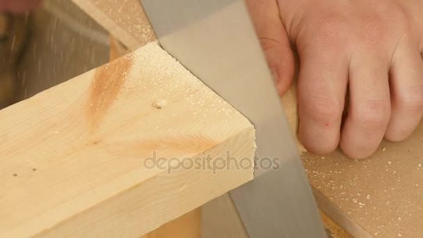 Řezání dřeva ručně viděl