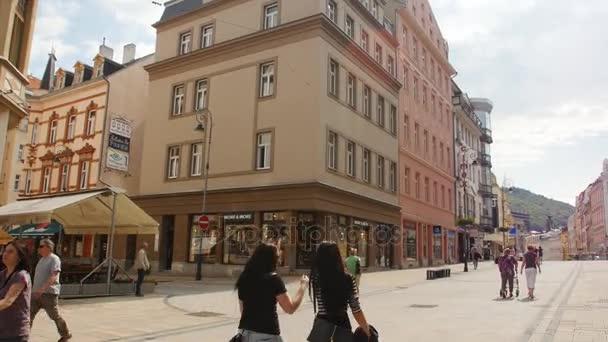 Karlovy Vary - 13. června: Karlovarské ulice, Česká republika na 13 června 2017 v Karlových Varech