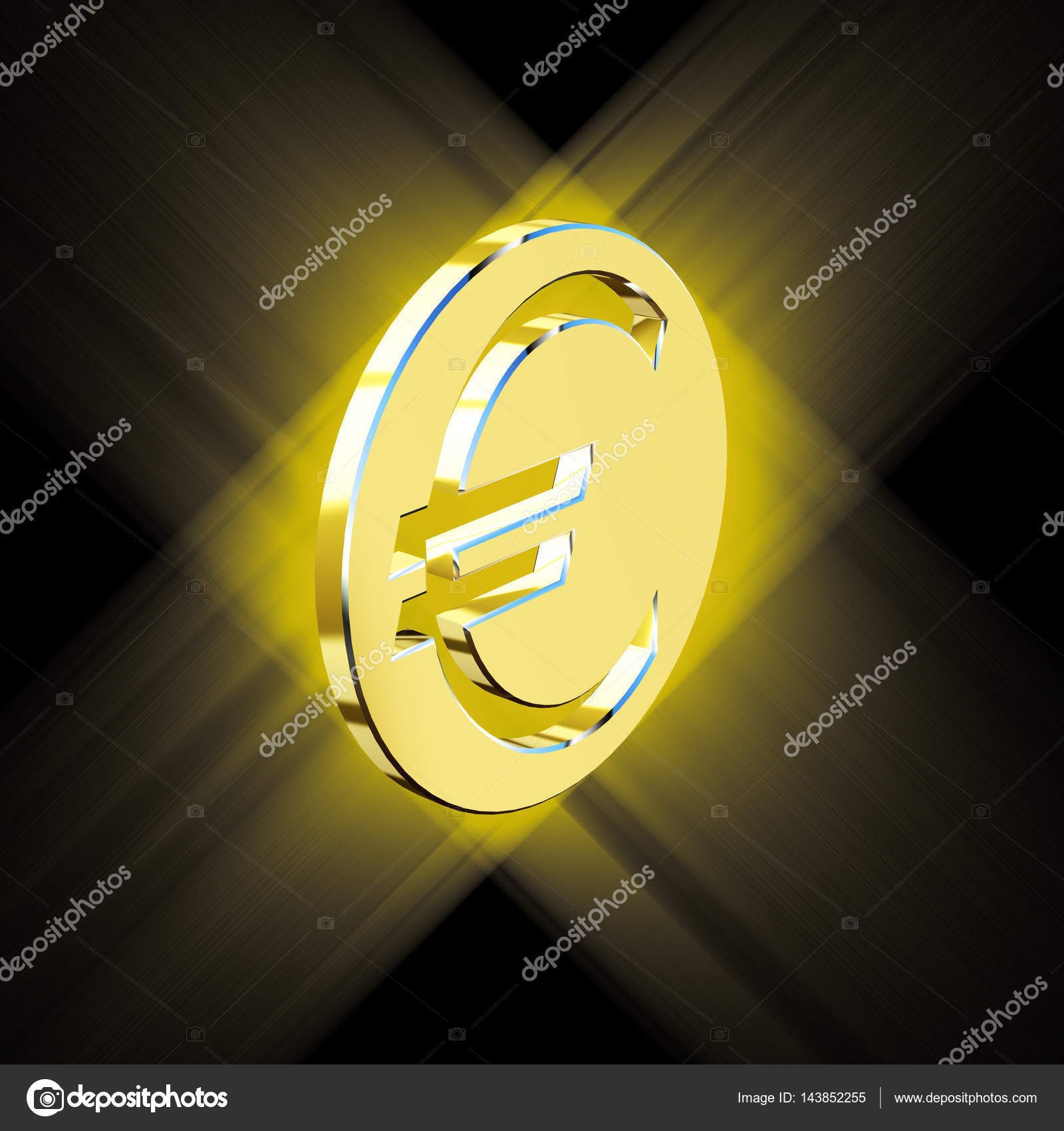 Golden Euro Currency Symbol Money Stock Photo Nikgru 143852255