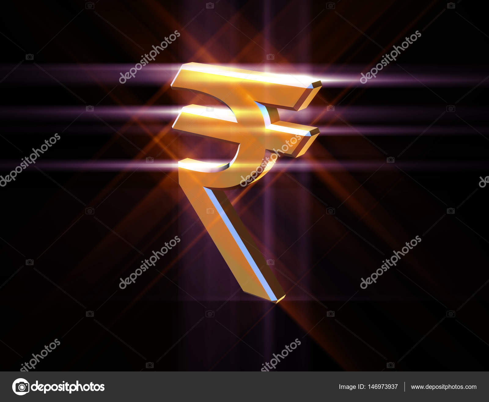 Symbol Currency Of The Indian Rupee Stock Photo Nikgru 146973937