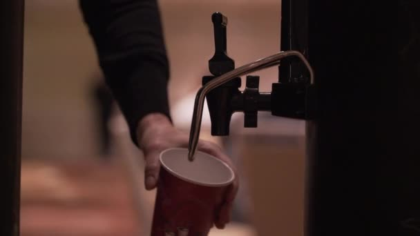 Coffee being poured at a conference