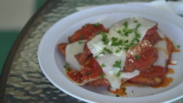 Chicken cutlets with mozzarella
