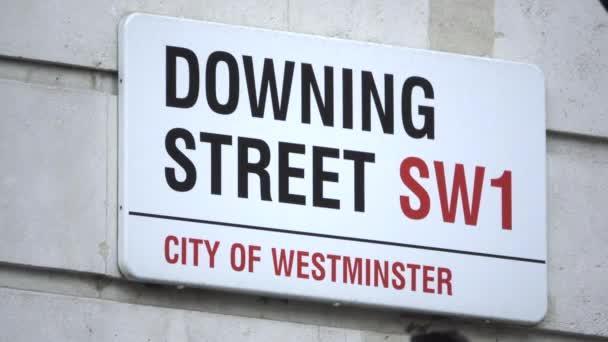 Schuss des Zeichens Downing Street