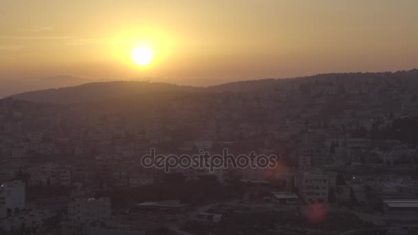 Sonnenuntergang Blick auf Nazareth vom Hügel des Abgrunds