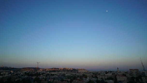 Idő telik el a nightfall Jeruzsálemben