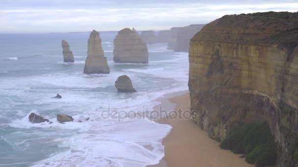 Rugged cliffs near twelve apostles
