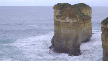 Massive rock formation at Loch Ard Gorge