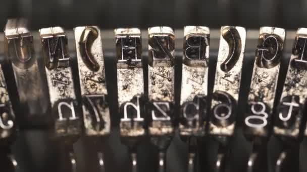 Starý psací stroj Vintage, detail, 4k Ultrahd.