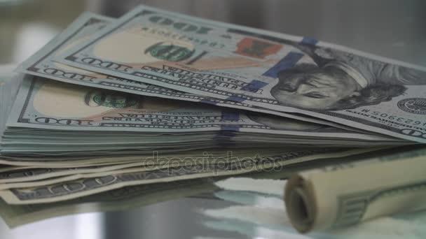 Dolaru bankovky na kokainového prášku