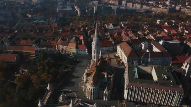 Nagy légi felvétel a gyönyörű Budapesten, a magyar főváros és Dunára