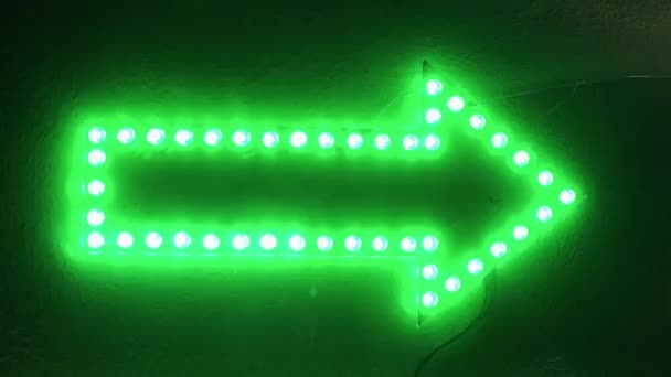 Green arrow shows direction to the right in the darkness