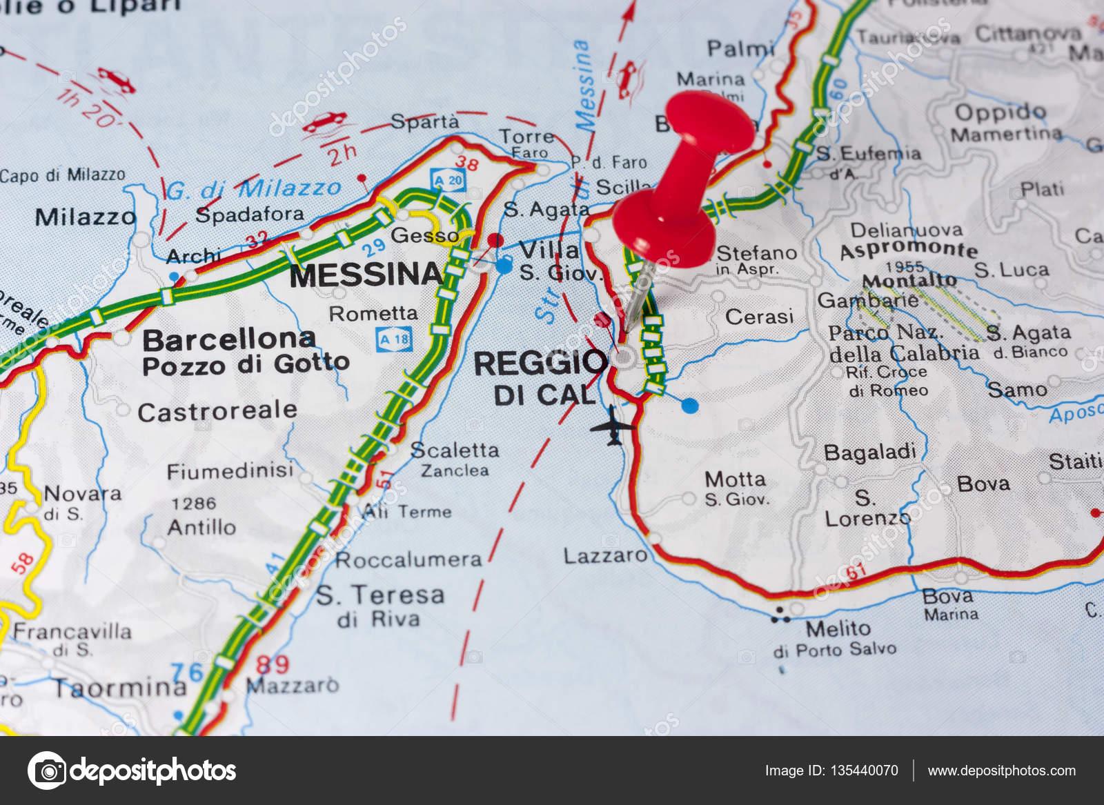 Reggio Calabria Italy On A Map Stock Photo maior 135440070