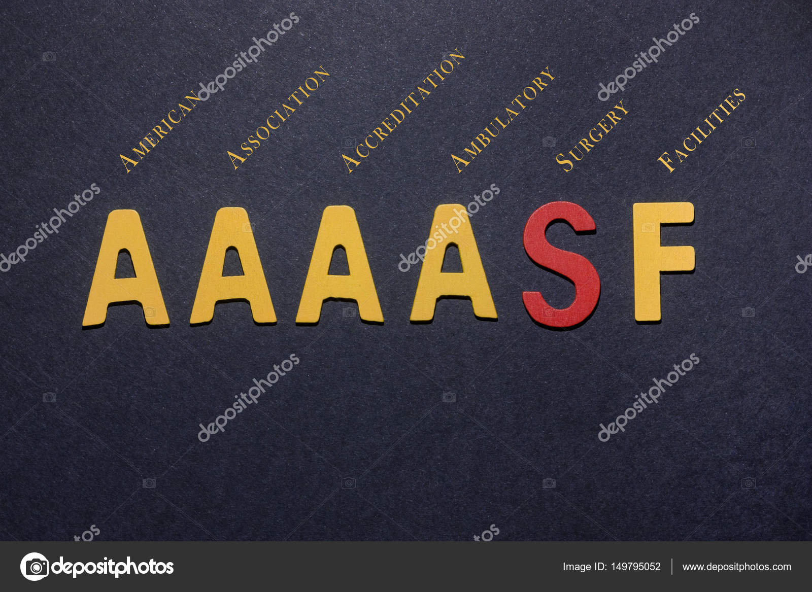 Abbreviation AAAASF American Association For Accreditation Of Am Stock Photo