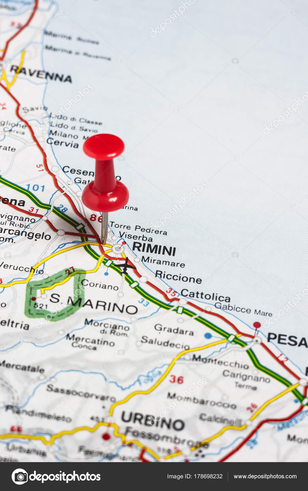 rimini italia mapa Rimini italia mapa | Cubrió a Rímini en el mapa de Italia — Foto  rimini italia mapa