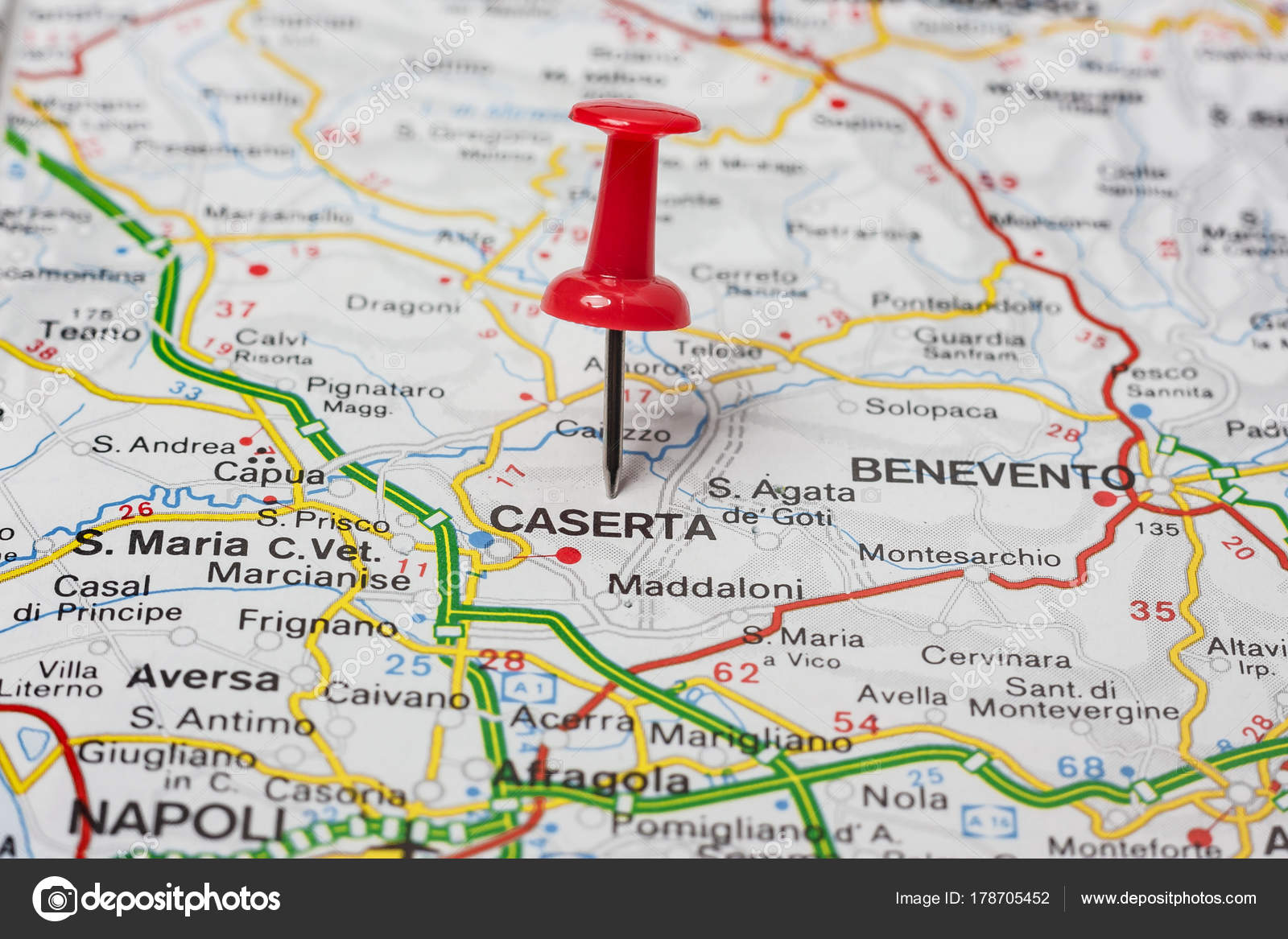 Caserta Pinned On A Map Of Italy Stock Photo C Maior 178705452
