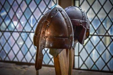 Viking helmet close-up