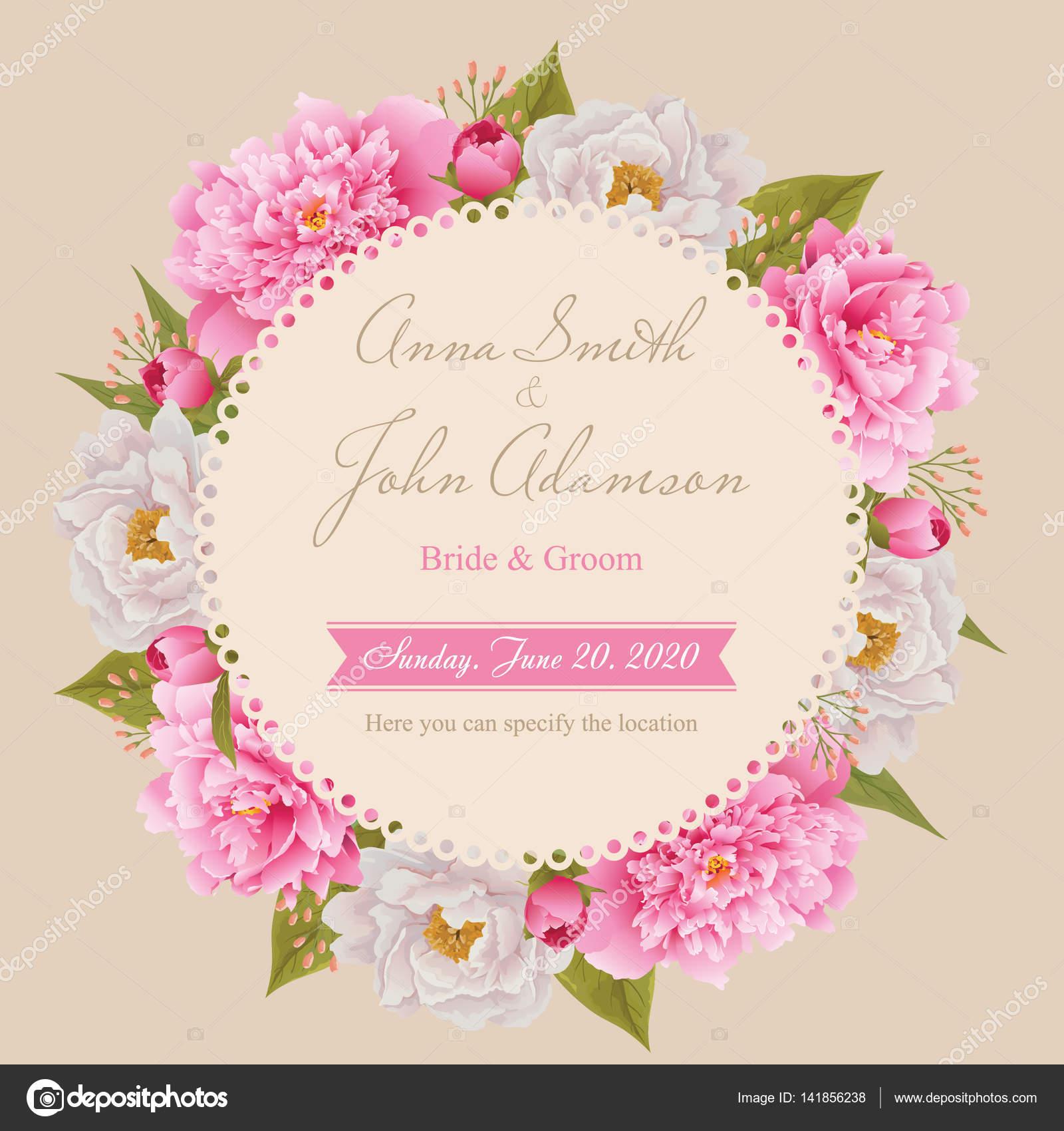 Hochzeit Einladungskarte, speichern Sie die Datum-Karte, Grußkarte ...