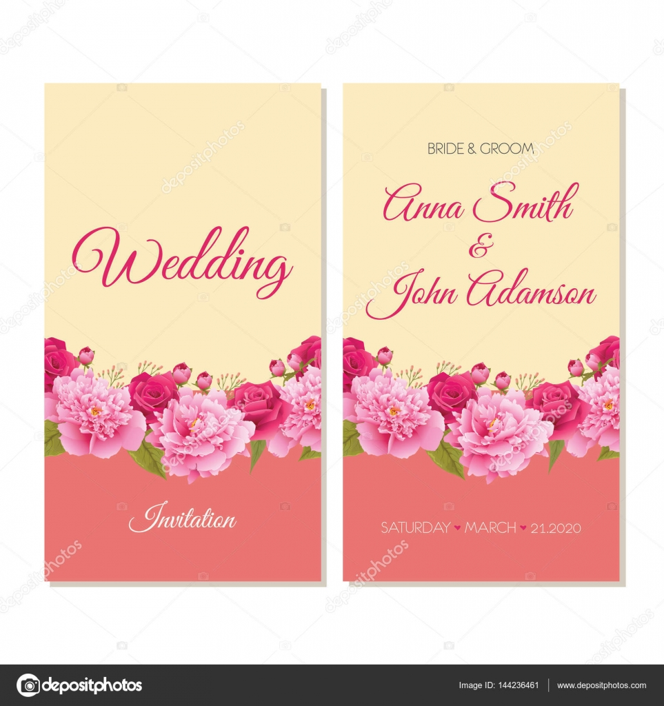 Wedding Invitation Thank You Card Save The Date Cards Eps