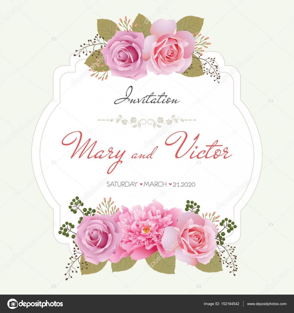 Tarjeta de invitación de boda, Ahorre la fecha tarjeta, saludo ...