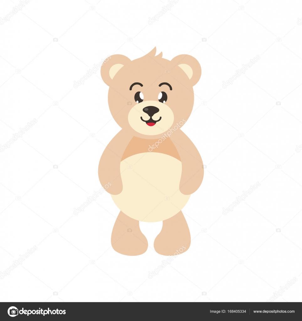 Simpatico orso dei cartoni animati u vettoriali stock