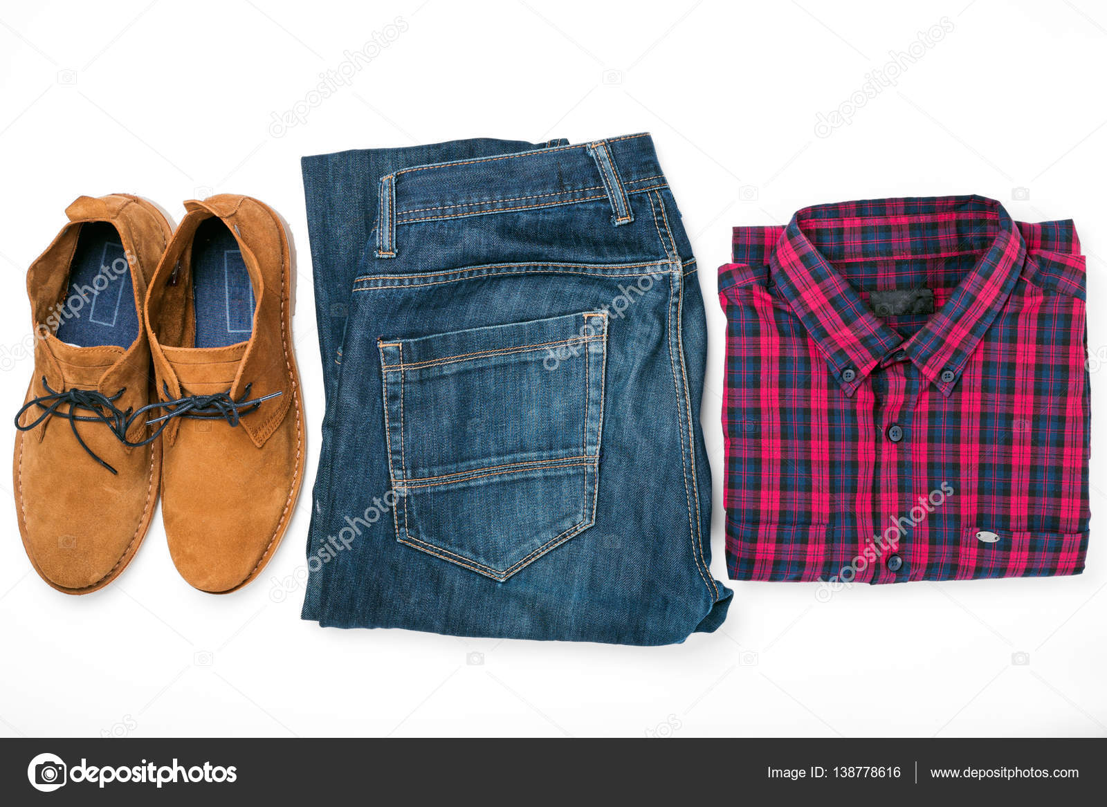 Collage Abbigliamento Foto E Stock Uomo — CamiciaJeans Scarpe Con 0kOPnw