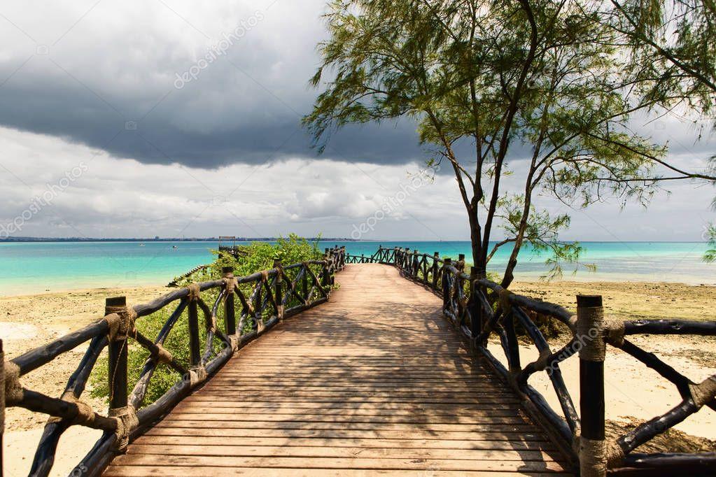 Beautiful ocean landscape on island prison, Zanzibar, Tanzania