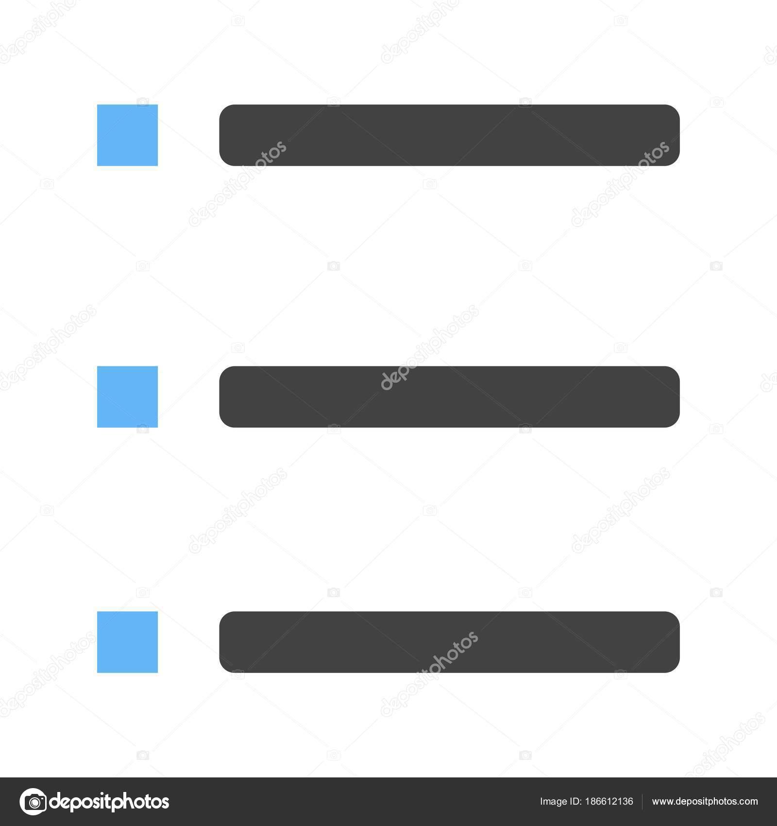 箇条書きリスト アイコン \u2014 ストックベクタ