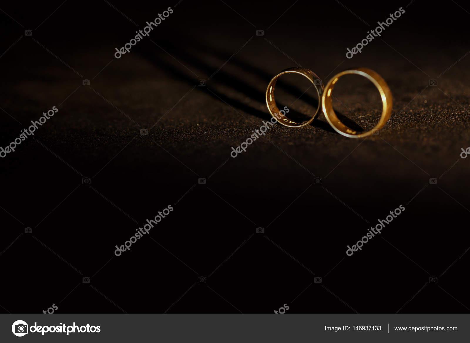 Wedding Rings With Names Inside Stock Photo C Olexiysyrotkin