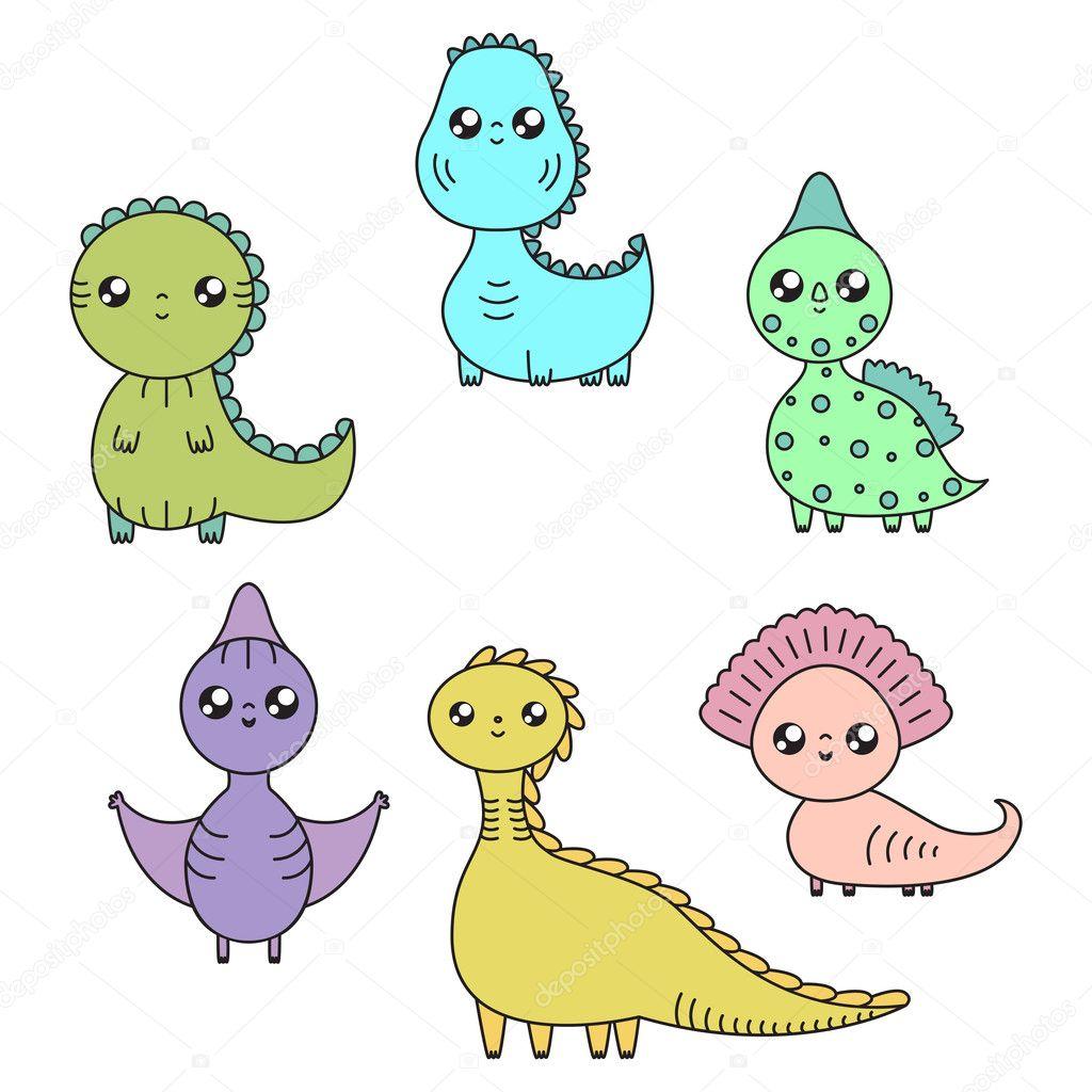 Fotos Dinosaurios Animados Kawaii Juego De Dinosaurios De Kawaii