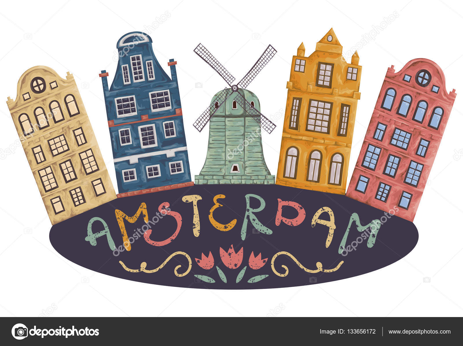Most Colorful Cities Around The World moreover Belgium Impressive Cultural Treasure moreover Amsterdam Architecture as well herland Tourist Attractions In besides Stock Illustration Amsterdam Old Historic Buildings And. on amsterdam buildings