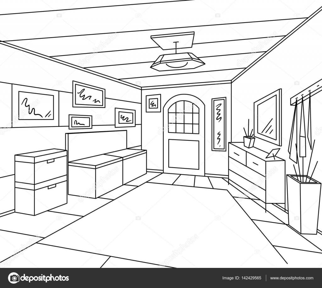 Interior de pasillo de entrada con muebles de almacenamiento de ...