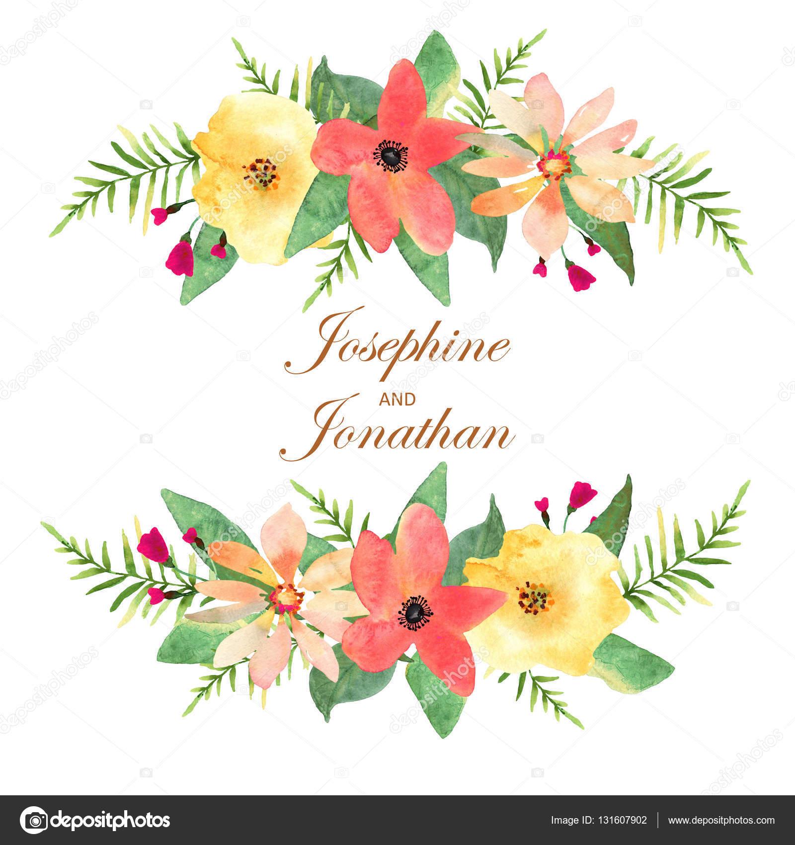 Dibujo De Nochebuena A Color Floral Tarjeta De Felicitación