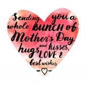 Senden Sie eine ganze Reihe von Umarmungen und Küsse zum Muttertag, am besten w