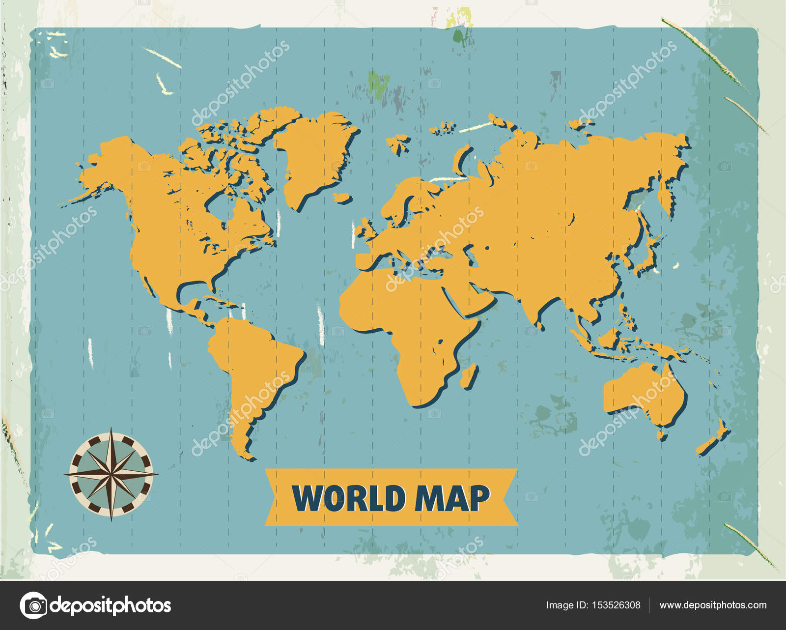 Grunge retro metal sign with world map vintage poster old grunge retro metal sign with world map vintage poster old fashioned design gumiabroncs Images