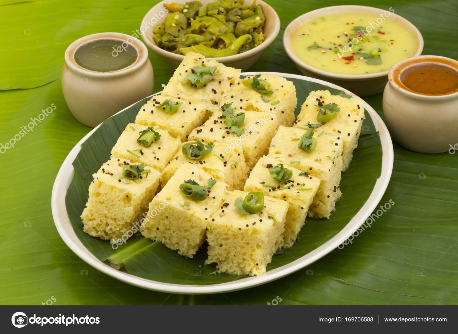 Khaman Dhokala snack food — Stock Photo © KailashKumar