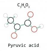 Fényképek piroszőlősav C3h4o3 molekula