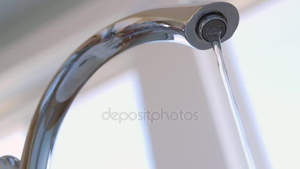 water coming from bath faucet — Stock Video © jakerbreaker #147098991