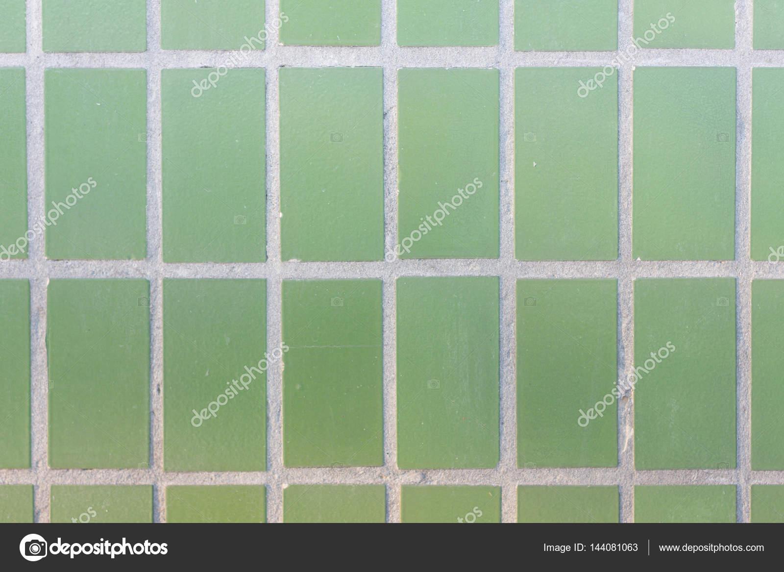 Facade Of Green Mat Ceramic Tile Texture Geometric Figures