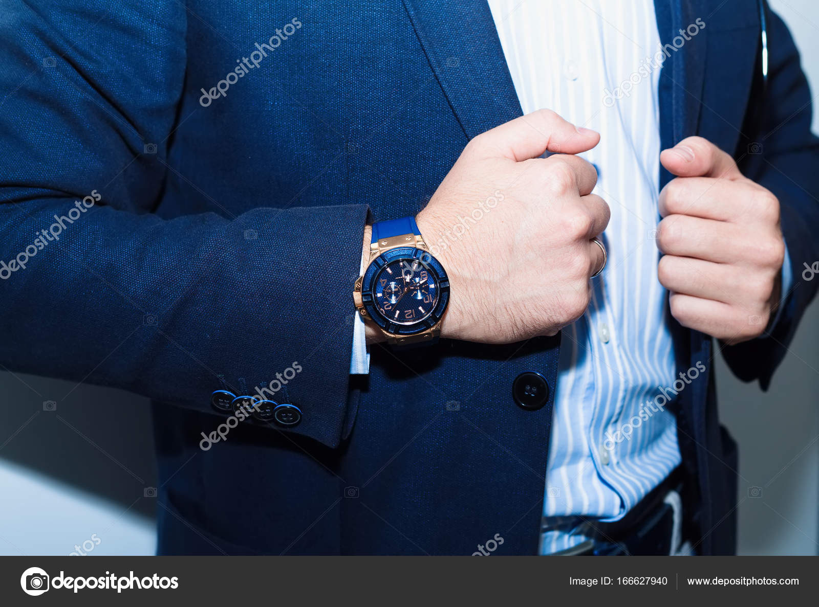 Businessman in suit close-up.Fashion portrait of young businessman ...
