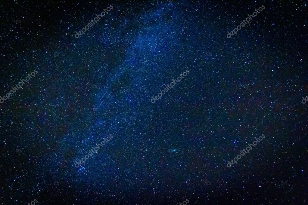 Night starry sky landscape