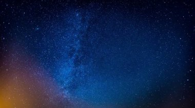 Milky way and starry sky