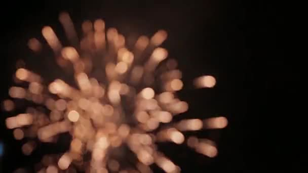 Ohňostroj se zobrazují jako krásné rozostření světla v tomto stylizované strk rozostřený. Ideální jako panák náladu nebo pozadí