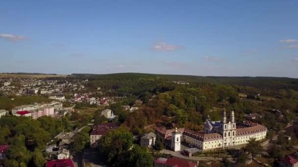 Aero pohled staré město na západě Ukrajiny Buchach