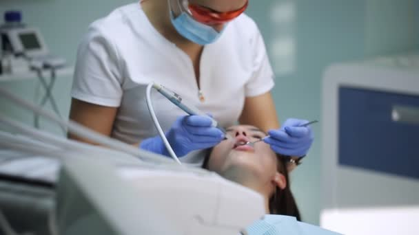 Dental restoration and material polymerization with UV light.