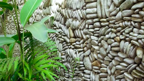 Kavics-tenger készült fal textúra.
